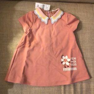 Fendi Girls Pink Dress 6 month